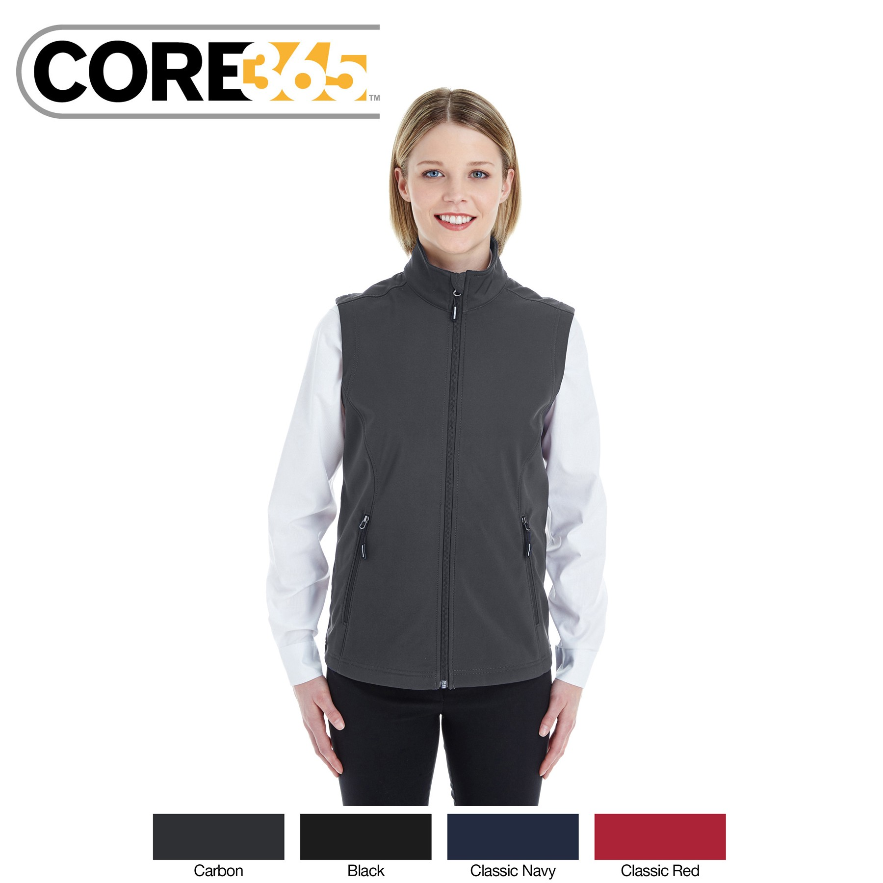 Ash City - Core 365 Ladies' Cruise Two-Layer Fleece Bonded Soft Shell Vest CE701W