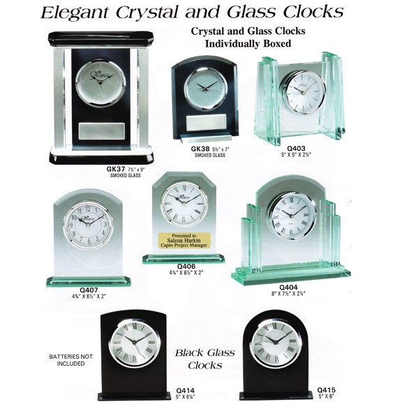 Marco Awards Brand Crystal & Glass Clocks