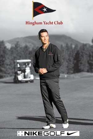 Hingham Yacht Club Nike Brand Premium V-Neck Wind Shirt For Men- Part Of Their Performance Golf Line