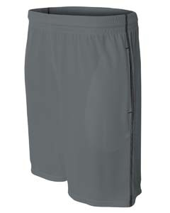 A4 Drop Ship Men's Flat Back Mesh Shorts w/ Contrast Stitching