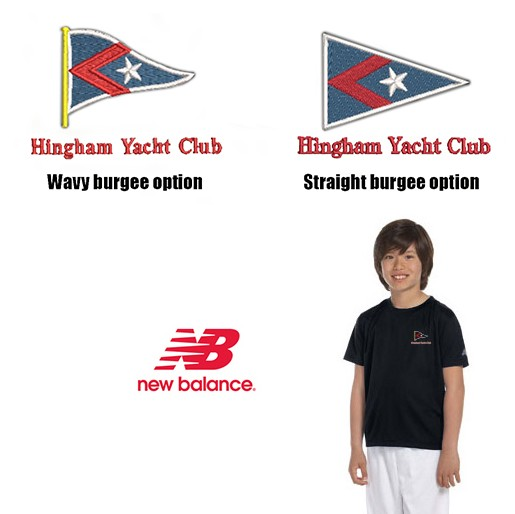 Hingham Yacht Club New Balance Youth Ndurance® Athletic T-Shirt- Performance Material Wicking & Anti-Microbial