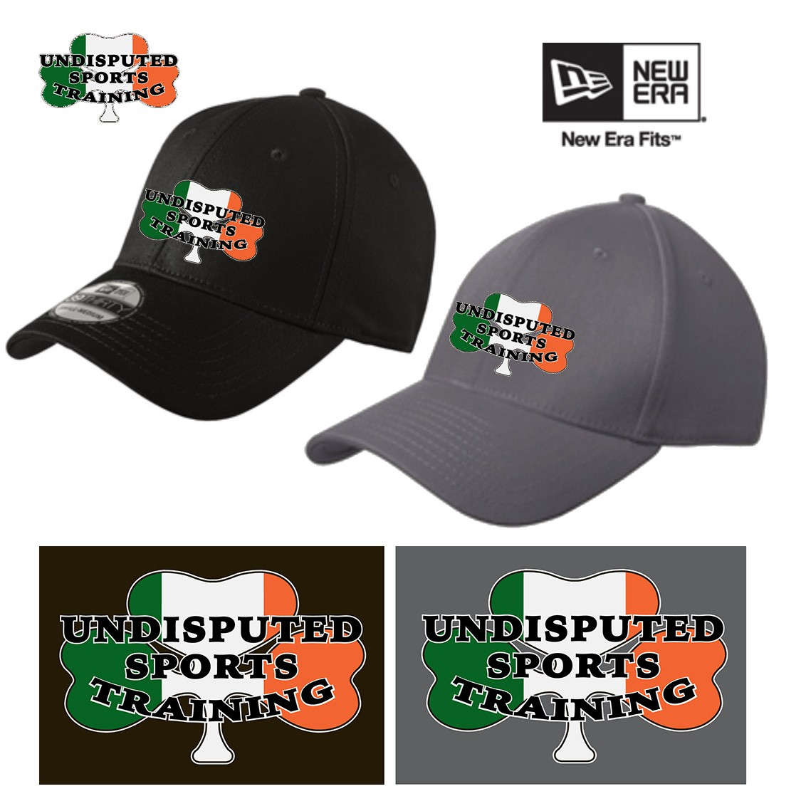 Undisputed Sports Training New Era® - Structured Stretch Cotton Cap, Fitted/Sizes, NE1000