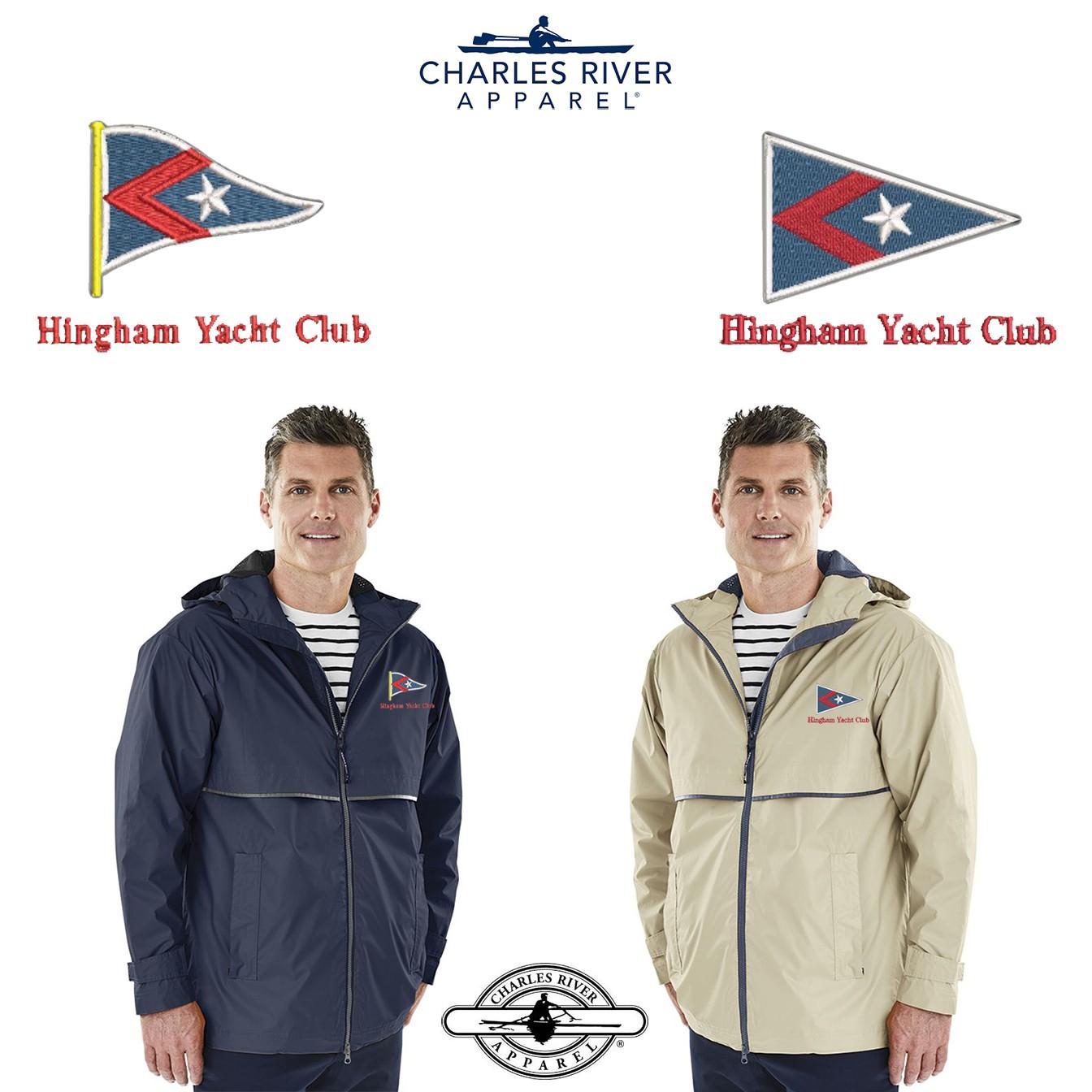 Hingham Yacht Club Charles River Men's New Englander Rain Jacket 9199