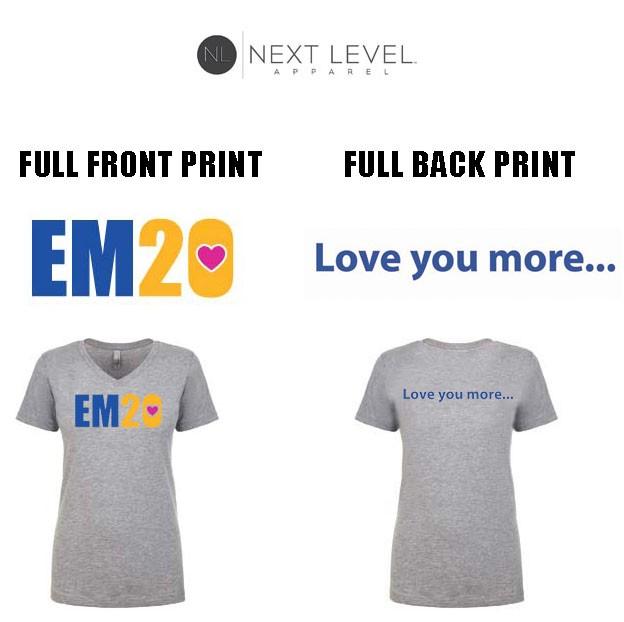 "Emma Ryan Scholarship Fund Next Level Apparel Brand Ideal ""V"" T-Shirt, Ladies' Fit, Heather Grey"