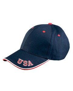 Adams 6-Panel Mid-Profile Cap with USA Embroidery