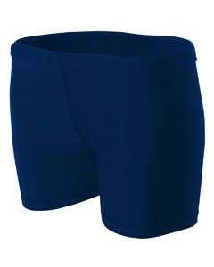 "A4 Drop Ship Ladies' 4"" Inseam Compression Shorts"