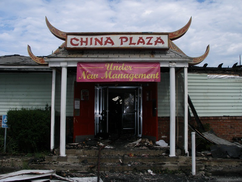 Original China Plaza After The Fire, Market Street, 2005