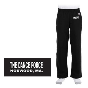 Dance Force Champion 9 oz. Double Dry Eco® Open-Bottom Fleece Pant with Pockets, Youth