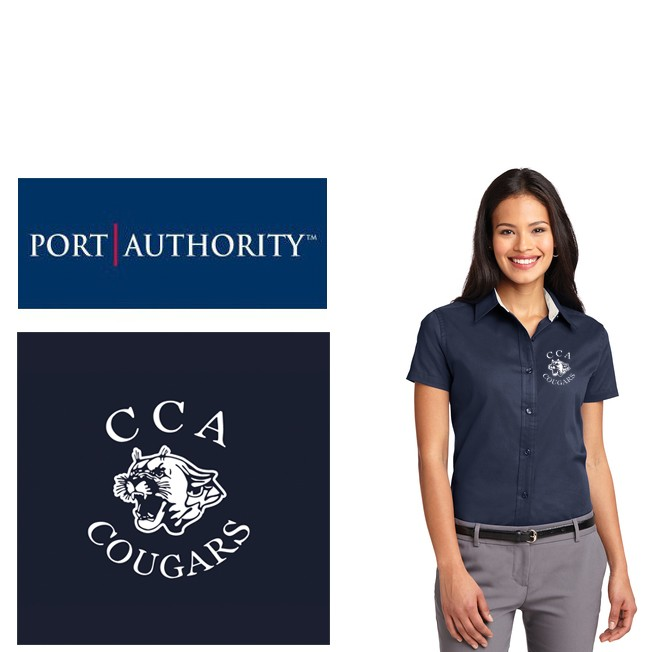 Calvary Chapel Academy Port Authority® Short Sleeve Easy Care Shirt, Ladies