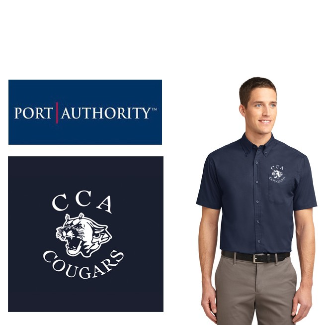 Calvary Chapel Academy Port Authority® Short Sleeve Easy Care Shirt, Mens