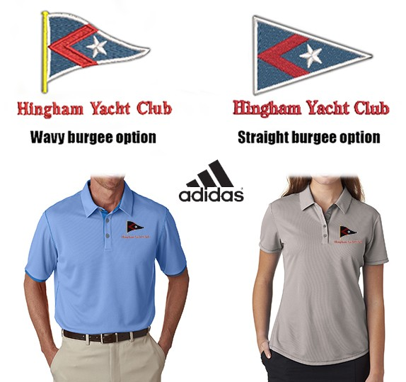 Hingham Yacht Club Adidas Brand Premium ClimaCool® Mesh Color Hit Polo For Men & Women- Part Of The Adidas Golf Performance Line