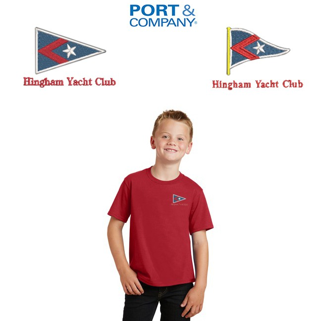 Hingham Yacht Club Port & Company® Youth Fan Favorite Tee. PC450Y