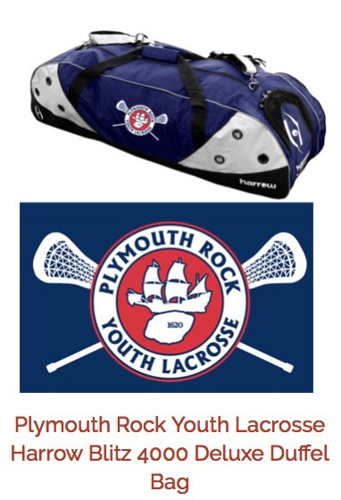 Plymouth Rock Youth Lacrosse Embroidered Lacrosse Bag