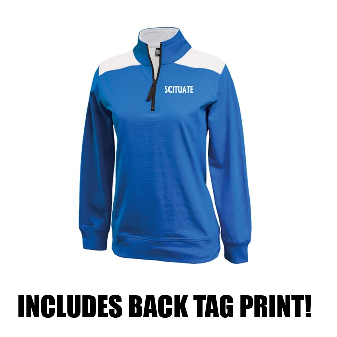 Scituate High Field Hockey Pennant Brand Popover 1/4 Zip (Womens Fit)
