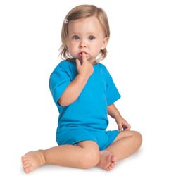 Rabbit Skins Infants' 5.5 oz. Jersey T-Shirt Romper Model 4426