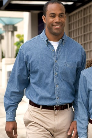 Port Authority® Long Sleeve Denim Shirt S600