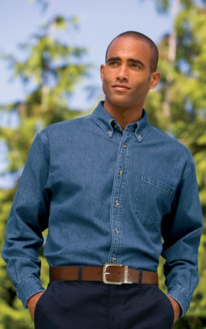 Port Authority® Heavyweight Denim Shirt S100