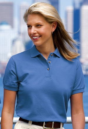 Port Authority® Ladies Heavyweight Cotton Pique Polo L420