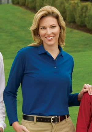 Port Authority® Ladies Long Sleeve Silk Touch™ Polo Sportshirt L500LS