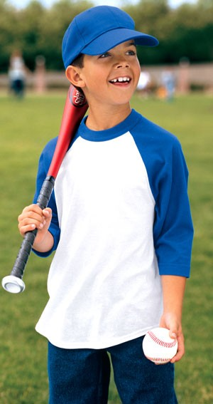Sport-Tek® Youth Colorblock Raglan Jersey YT200