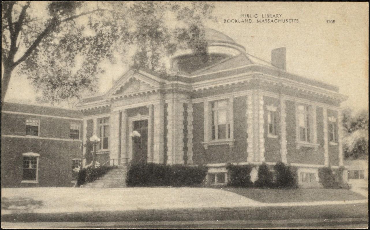Public Library, Vintage Photo, Rockland Mass
