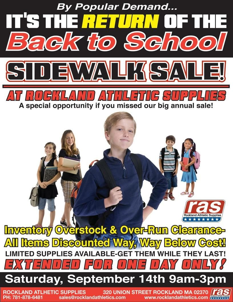 RAS Back TO School Sidewalk Sale 1 2015