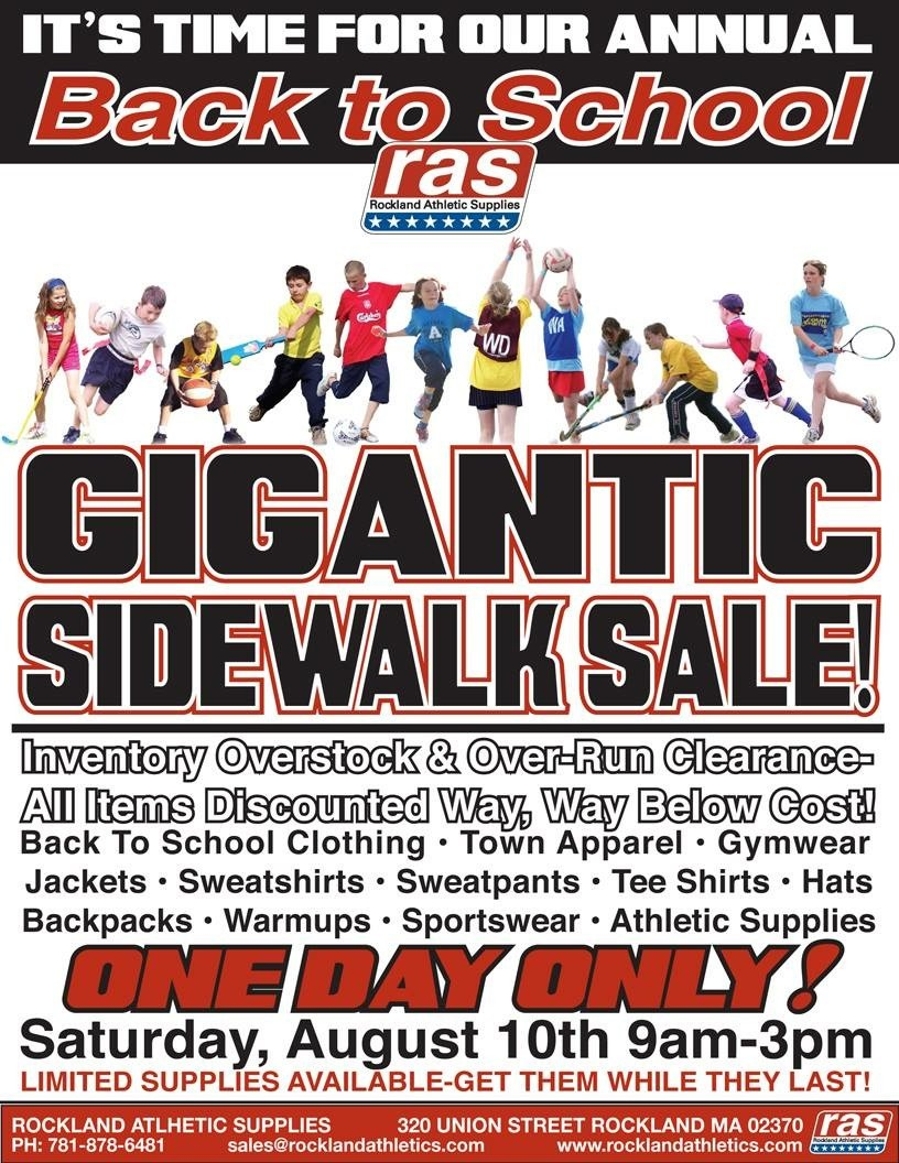 RAS Back TO School Sidewalk Sale 3 2015
