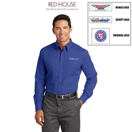 AHCA STEP-OUT PROGRAM: Red House® Non-Iron Diamond Dobby Shirt For Men, Embroidered Logo, Style #RH76
