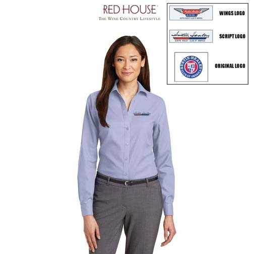 AHCA STEP-OUT PROGRAM: Red House® Non-Iron Diamond Dobby Shirt For Women, Embroidered Logo, Style #RH77