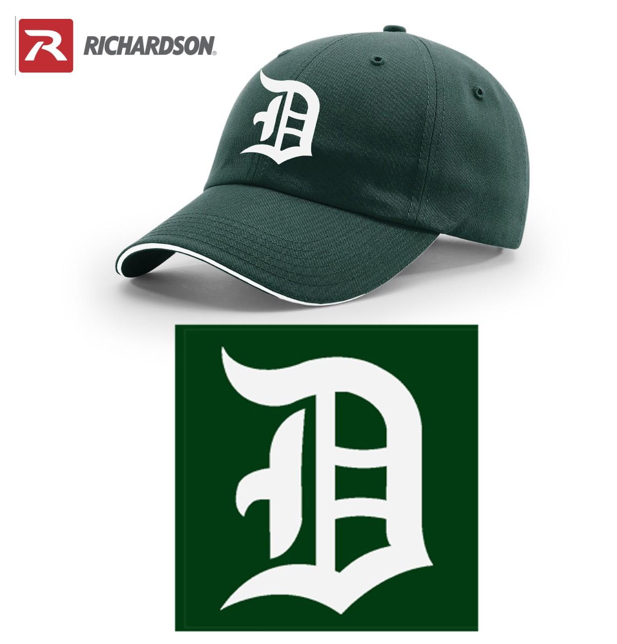 Duxbury Youth Baseball Richardson R-Series R66 Unstructured Sandwich Visor Cap, EMBROIDERED