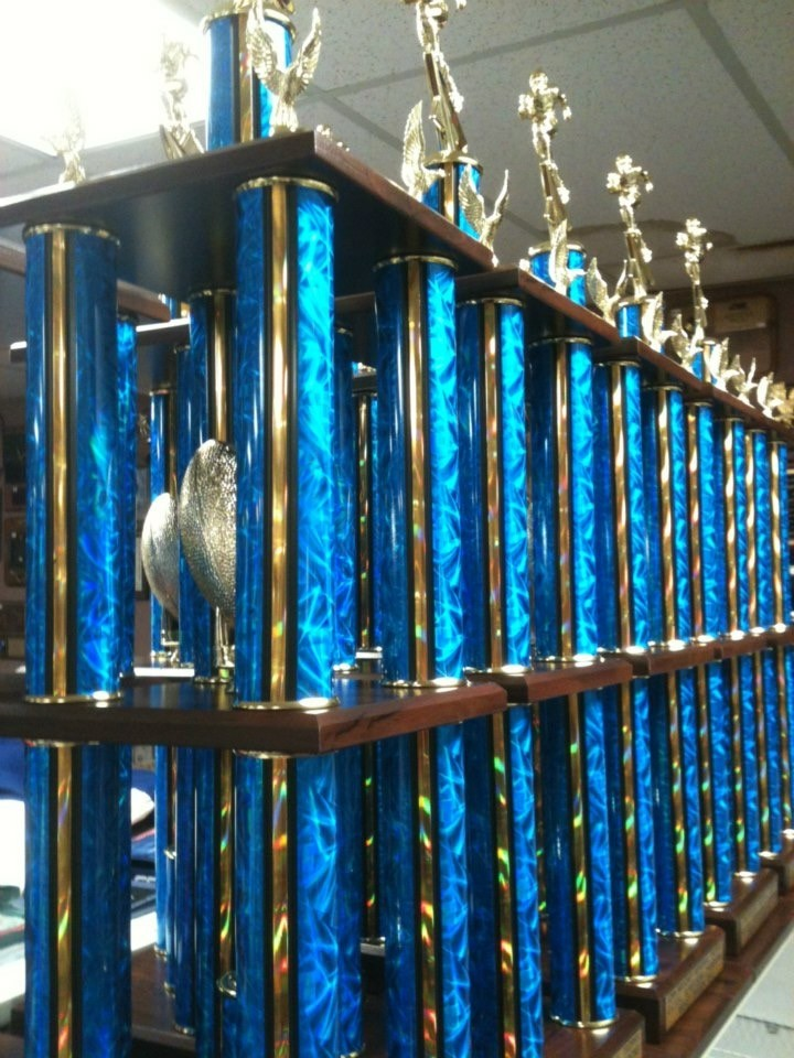 Rows Of (Big) Trophies