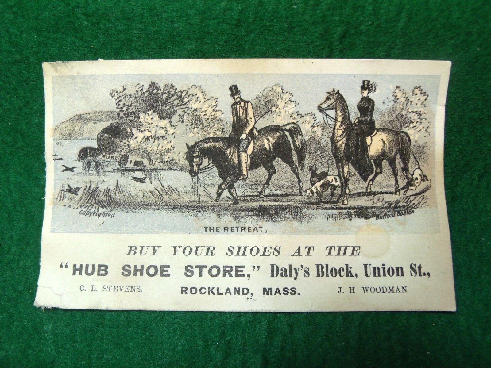Hub Shoe Store, Daily's Block, Union St, Rockland