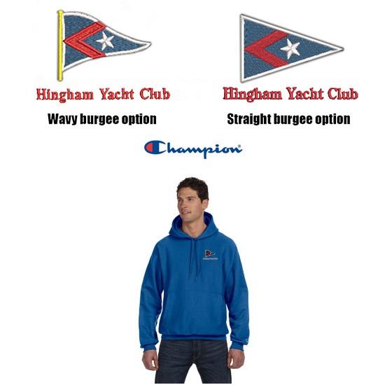Hingham Yacht Club Champion Premium Deluxe Reverse Weave® 12 oz. Pullover Hooded Sweatshirt