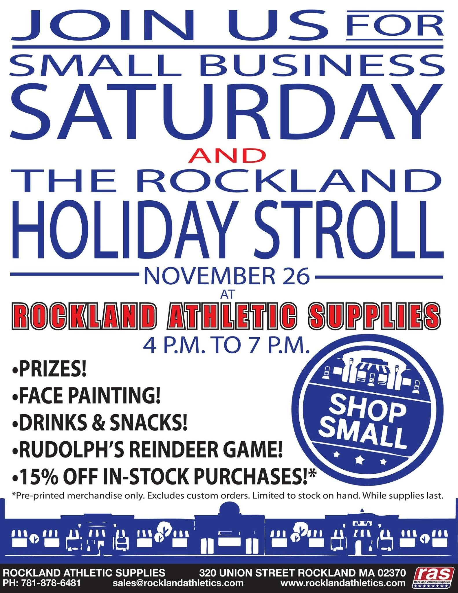 Small Business saturday & Rockland Stroll 2016