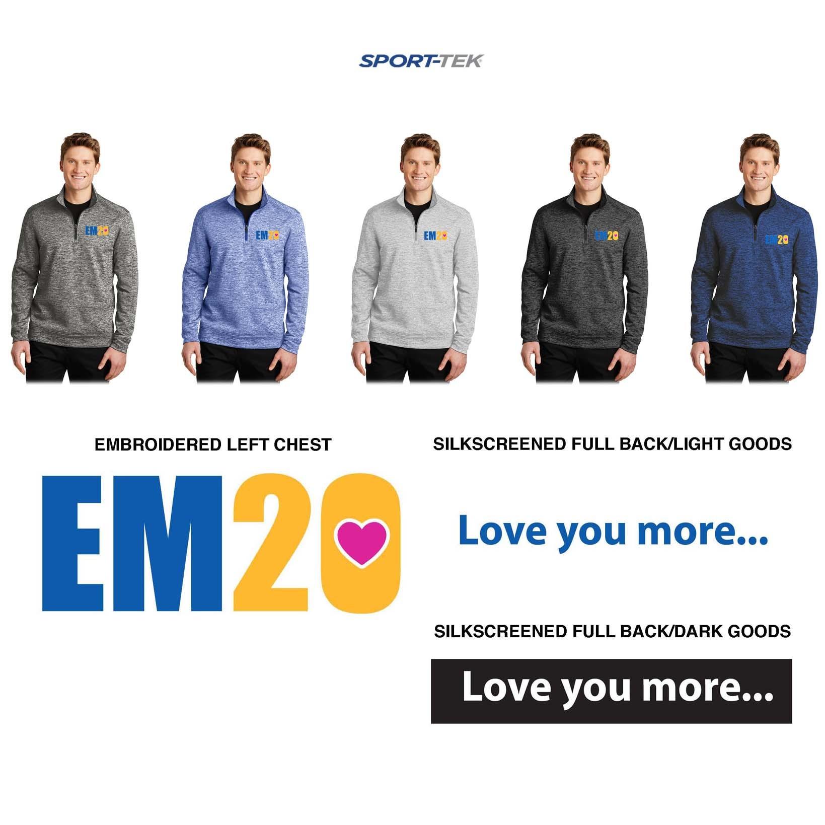Emma Ryan Scholarship Fund Sport-Tek® PosiCharge® Electric Heather Fleece 1/4-Zip Pullover, Men's/Adult Unisex