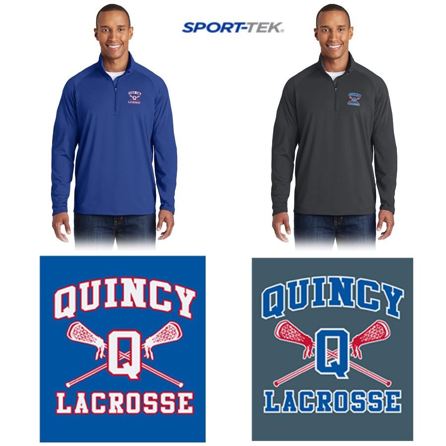 Quincy Lacrosse Sport-Tek® Sport-Wick® Stretch 1/2-Zip Pullover. ST850