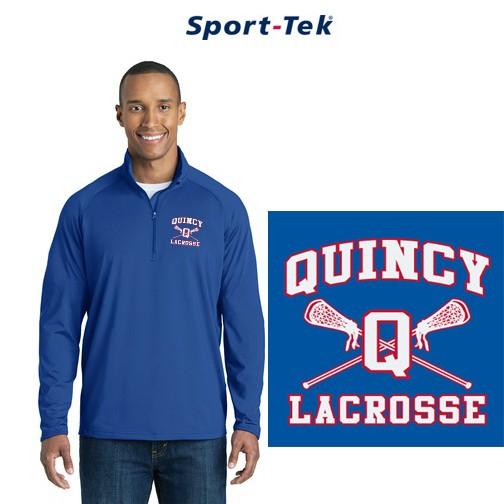 Quincy Lacrosse Sport-Tek® Brand Mens' Sport-Wick® Stretch 1/2-Zip Pullover