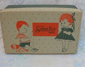 Stride Rite Shoes of Boston- Shoe Box circa 1950's