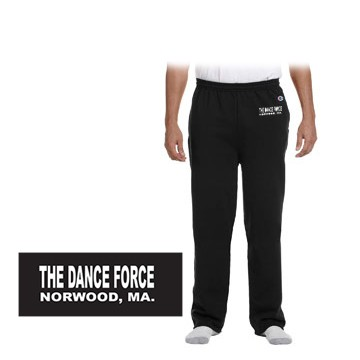 Dance Force Champion 9 oz. Double Dry Eco® Open-Bottom Fleece Pant with Pockets, Adult