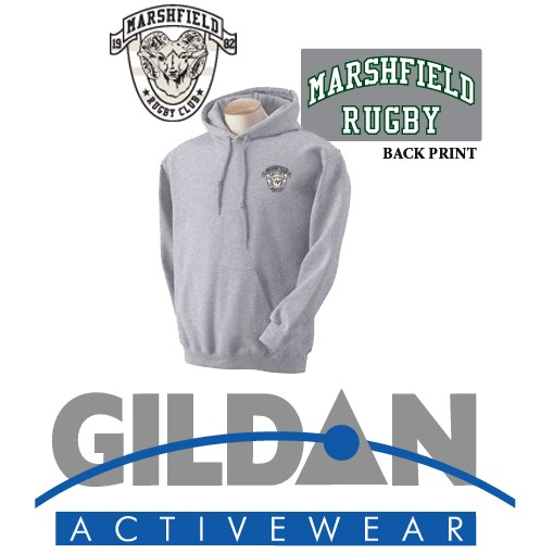 Marshfield Rugby Gildan Adult Heavy Blend™ 8 oz., 50/50 Hood