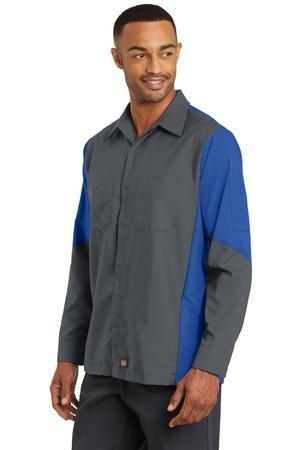 Red Kap® Long Sleeve Ripstop Crew Shirt
