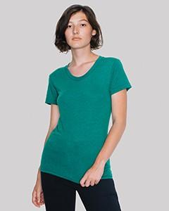 American Apparel Ladies' Triblend Short-Sleeve Track T-Shirt TR301