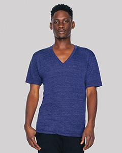 American Apparel Unisex Triblend Short-Sleeve V-Neck T-Shirt TR461