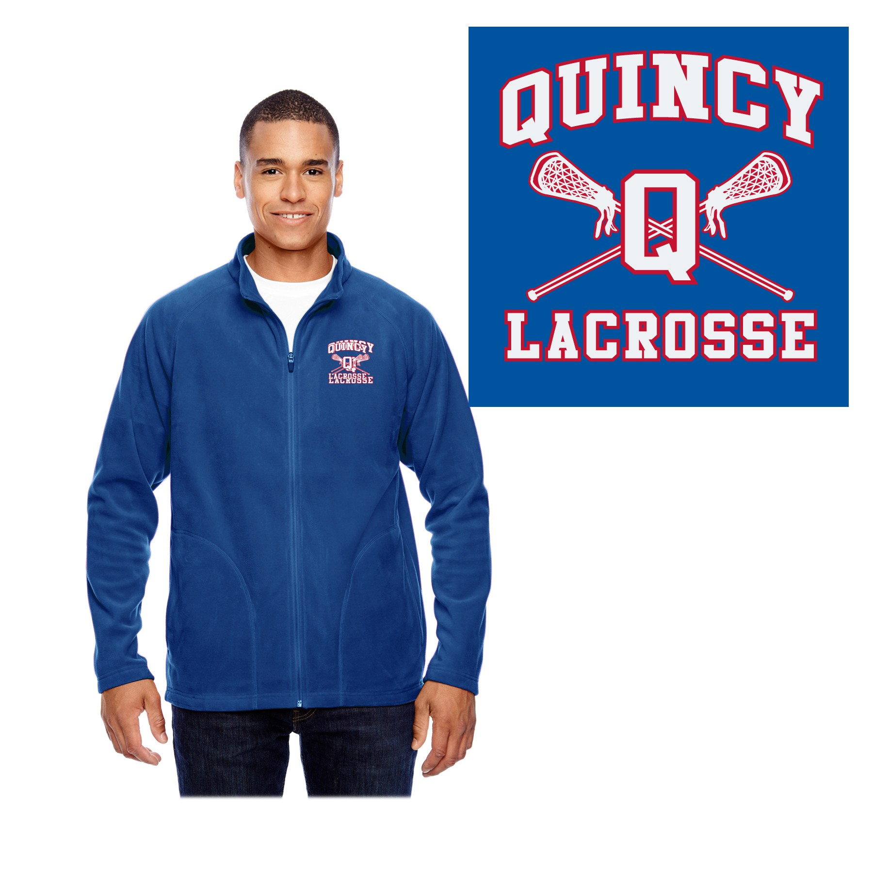 Quincy Lacrosse Team 365 Men's Campus Microfleece Jacket TT90