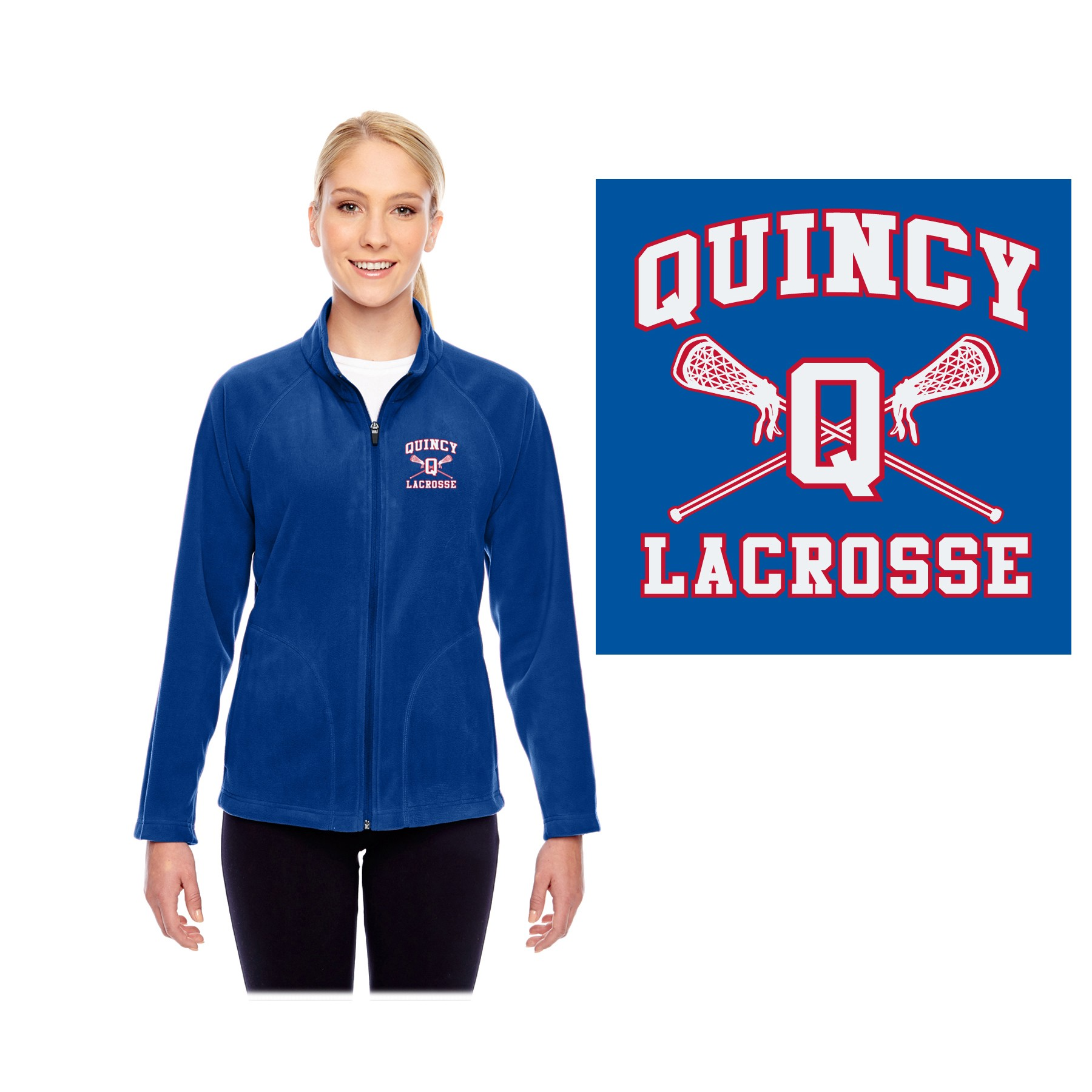 Quincy Lacrosse Team 365 Ladies' Campus Microfleece Jacket TT90W