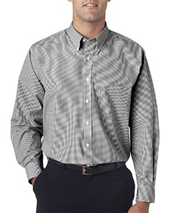 Van Heusen Men's Long-Sleeve Yarn-Dyed Gingham Check Shirt