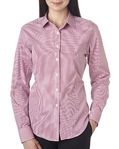 Van Heusen Ladies' Long-Sleeve Yarn-Dyed Gingham Check