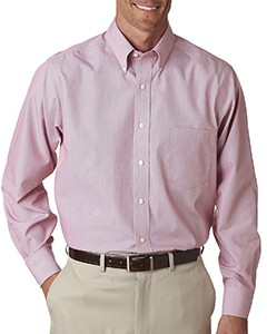 Van Heusen Men's Long-Sleeve Non-Iron Feather Stripe