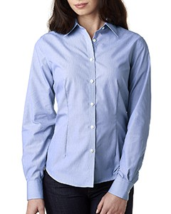 Van Heusen Ladies' Long-Sleeve Non-Iron Feather Stripe Shirt