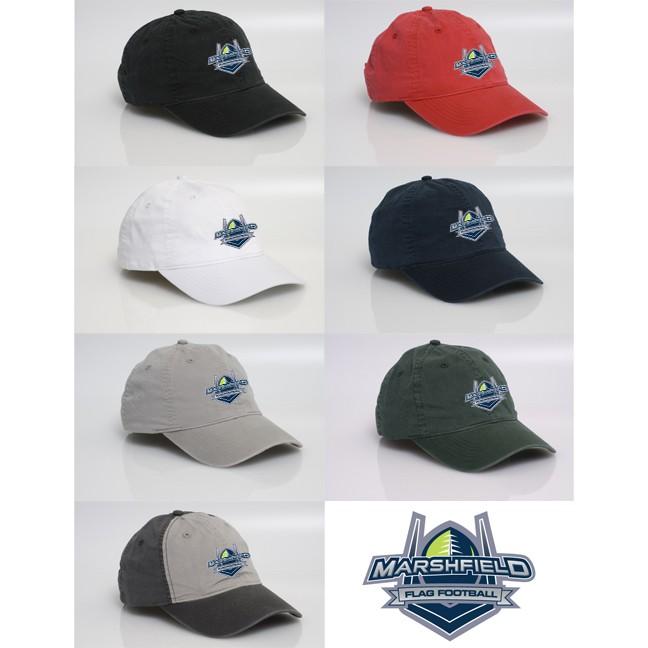 Marshfield Flag Football Pacific Headwear Brand V57 Vintage Adjustable Cap